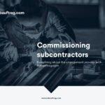 Commissioning subcontractors